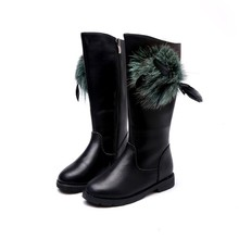 Здесь можно купить  Children Boots Girls New Fashion High Feather Martin Boots Winter Autumn Kids Shoes Casual Baby Child Baby Shoes Free Shipping