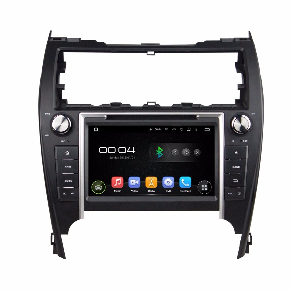 Quad core hd 2 din 8 android 5 1 car dvd player for toyota camry 2012