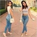 2016 new women jeans woman pants Raised buttocks high waist jeans push up hip cotton pencil pants jeans length women clothes