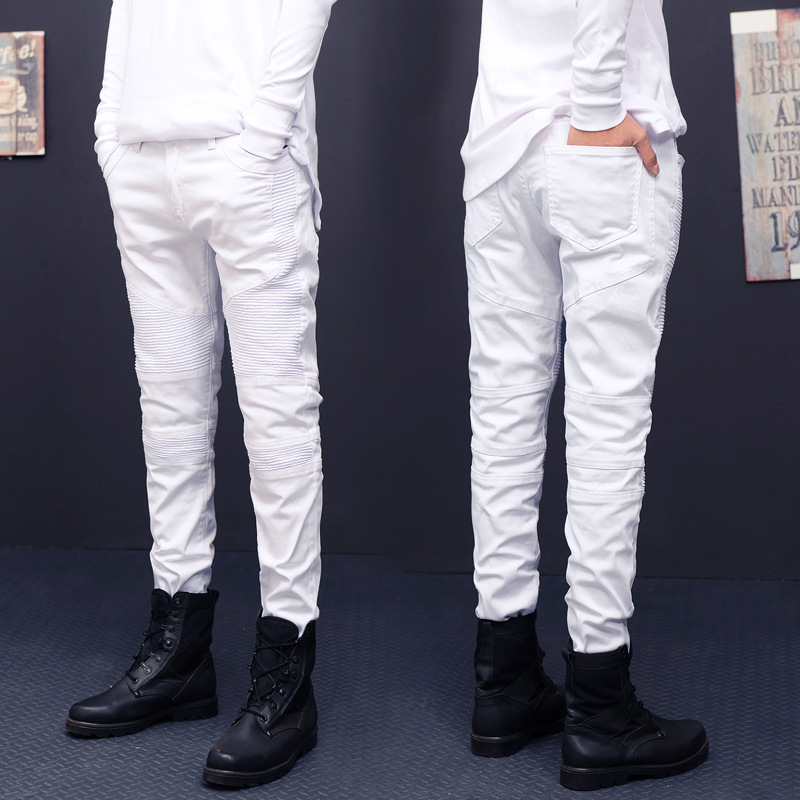 Hot Sale White Jeans Men High Quality Biker Jeans 2016 New Designer