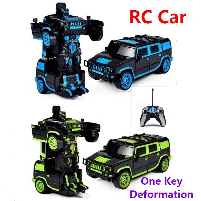 2 in1 RC Car Off road Car Transformation Robots Models Remote Control 1 18 Deformation Car