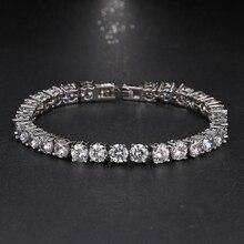Emmaya Wedding Bracelet Zircon Jewelry High Quality AAA Round 0.5 Carat Created Tennis Charm Bracelet