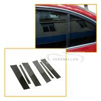 for BMW E87 2008 Carbon fiber Window Central pillar B + C Door Sill Molding Cover Strip Trim Car Styling Soft Resin