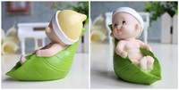 Meng meng da Cute cartoon dolls silicone mold wedding candles soap silicone mold baby soap leaves mode