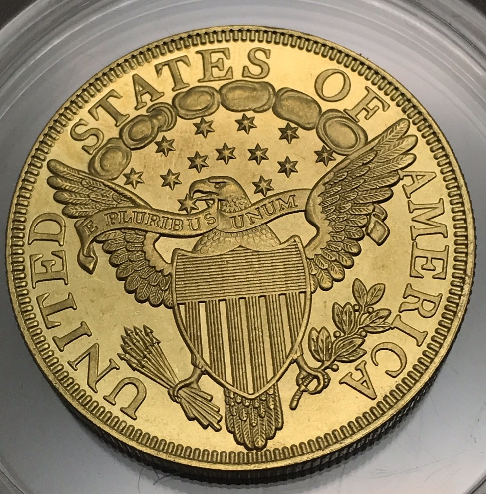 United States Of America 1799 Liberty Heraldic Eagle Gold Coin Brass Metal Copy Coin