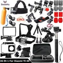 SnowHu Pour Xiaomi Yi 4 K Accessoires Bâton Boîtier Étanche Trépied pour Xiaomi Yi 4 K Yi2 Action International Caméra 2 II GS61