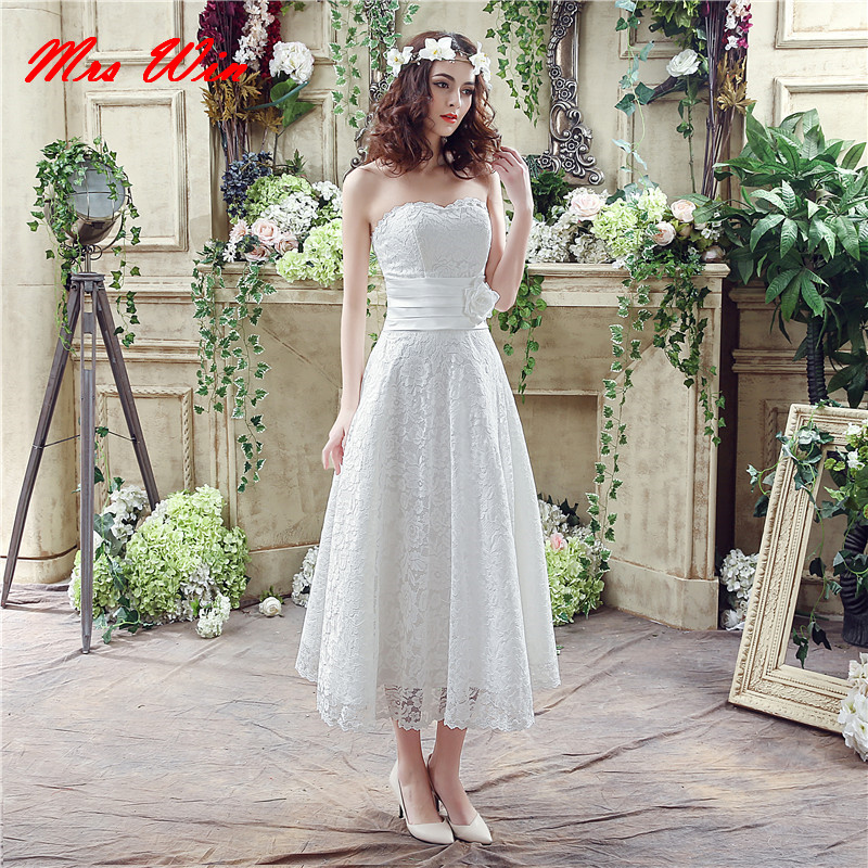 new design short wedding dresses 2017 lace appliqued backless vintage wedding gowns vestidos de noiva china