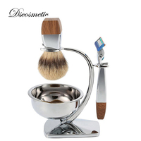 Dscosmetic shaving brush set, silvertip badger hair,very good quality shaving bowl,shaving stand,shaving razor