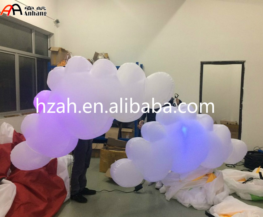 LED Inflatable Hanging Cloud For Party Decoration