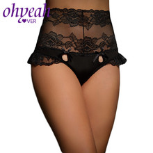 Ohyeahlover High Waist Panties Large Size 3XL Thong Foral Lace Ladies Underwear