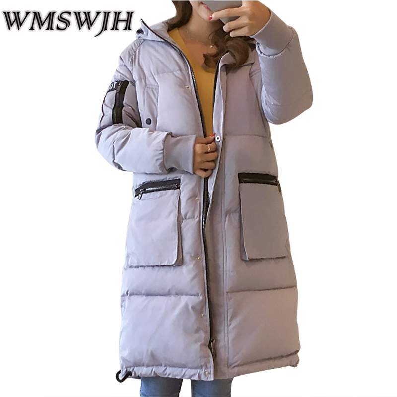 Winter Jacket Women New Fashion Hooded Long Outwear Down Cotton Parkas Ladies Thick Warm Korean Loose Coat High Quality Parkas pregnant women winter coats thick warm cotton jacket new fashion women coat knit patchwork long sleeve loose hooded jacket g2834
