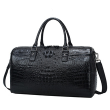 100% Genuine Leather Travel Bag Luxury Men Large Capacity Po