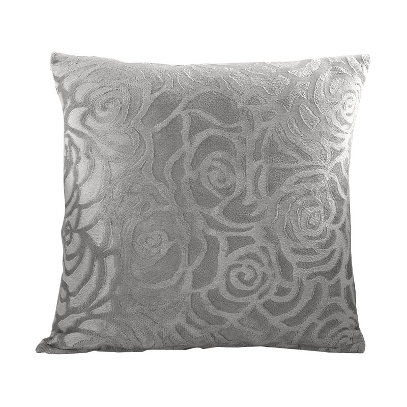rubihome new arrival silver grey rose design decorative pillows cushion without inner polyester for sofa home - Popular Throw Pillows