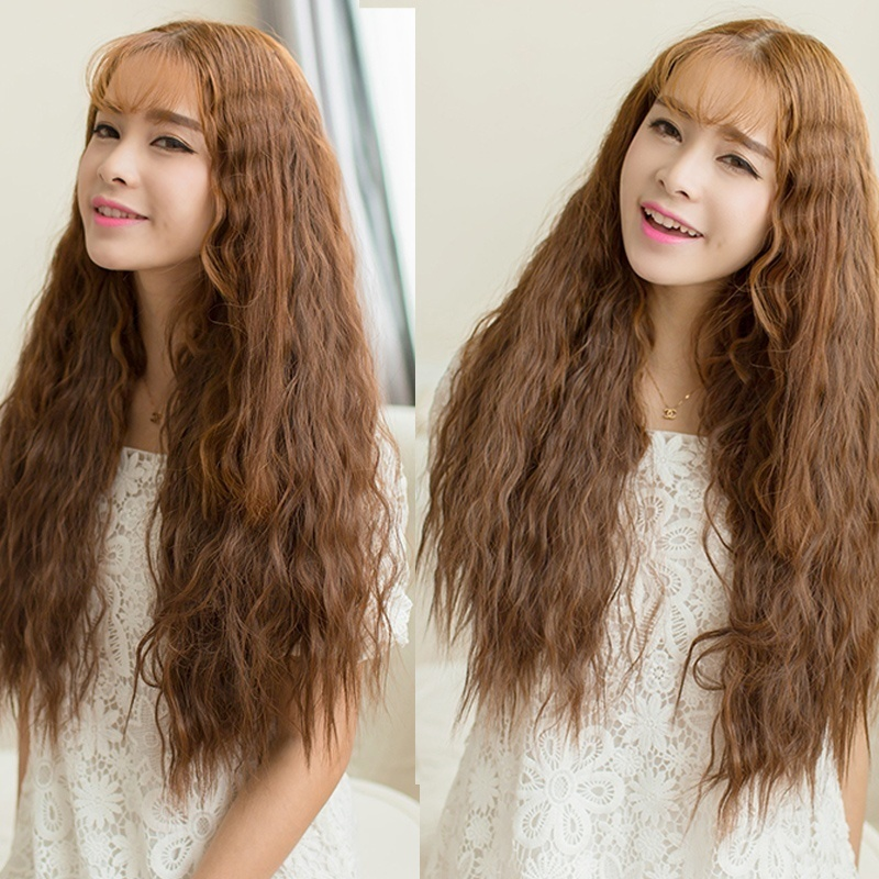 60cm Curly Wave Sexy Girl Clip In Hair Extensions Synthetic Hair