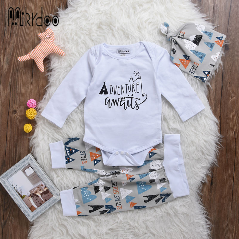 Baby boy clothes kids letter adventure long sleeve T-shirt color Tents pants hat fashion toddle tracksuit infant sport suit sale new hot sale 2016 korean style boy autumn and spring baby boy short sleeve t shirt children fashion tees t shirt ages