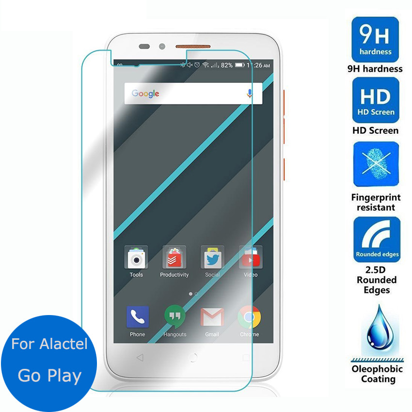 For Alcatel One Touch Go Play Tempered Glass Screen Protector 2.5 9h safety Protective Film on onetouch <font><b>7048X</b></font> 4G LTE Verre Guard image