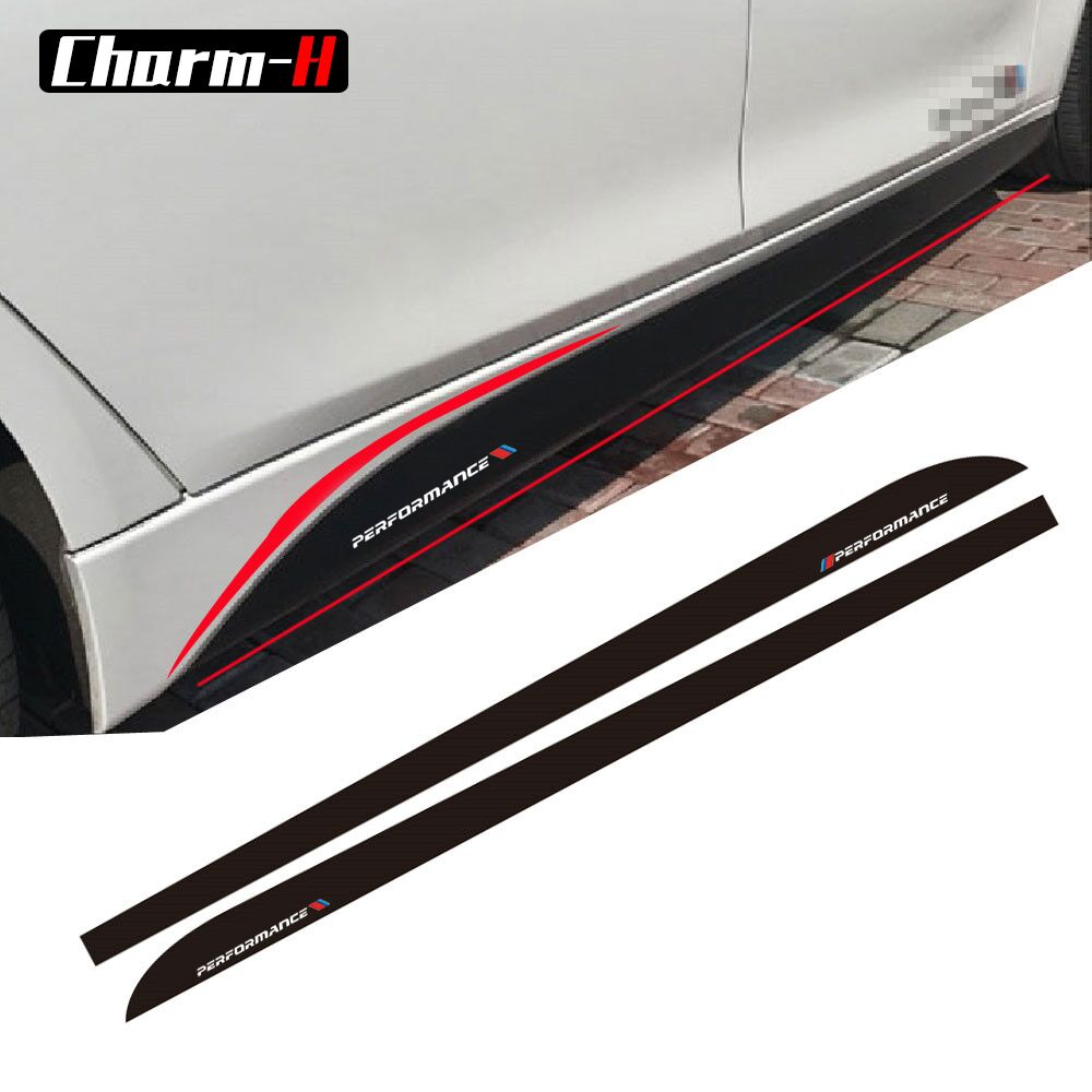 5D Carbon Fibre Side Skirt Sill Racing Stripe for BMW F30 F31 F32 F33 F22 F23 F15 F85 F10 E60 E61 G30 E90 M Performance sticker