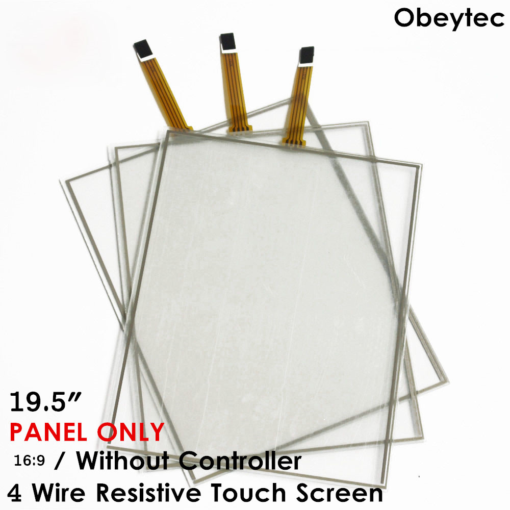 19.5 4 wire Resistive LCD Touch Screen Panel Wide 16:9 (430*238mm) Supply Touch Panel Only