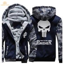 El Punisher cráneo hip hop hombres Sudaderas 2017 Nuevo invierno gruesa  Chaquetas sudaderas Moda hombre marca con capucha para h. fc8ab4d4be18