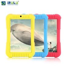 Горячая irulu y3 7 «Babypad 1280*800 IPS A33 Quad Core ПК Таблетки Android 5.1 Г 1 Г 16 Г Силиконовый Чехол Подарок для Детей Конфеты Цвет