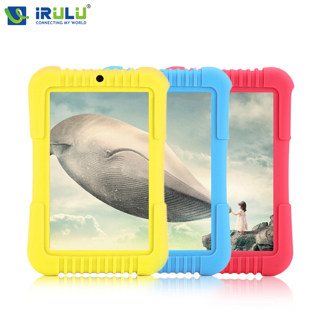 Hot iRULU Y3 7″ Babypad 1280*800 IPS A33 Quad Core Android 5.1 Tablet PC GMS 1G 16G Silicone Case Gift for children Candy Color