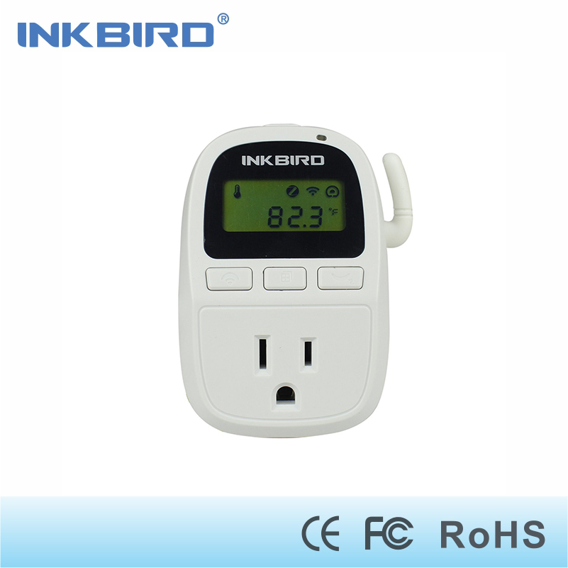 Inkbird C919 110V 1500W Smartphone Wifi Digital Smart Temperature Controller, Heater/Cooler Thermostat, Timer for Homebrewing micro intelligent thermostatic switch digital thermostat ac220v temperature controller for heater or cooler max power2200w w2101