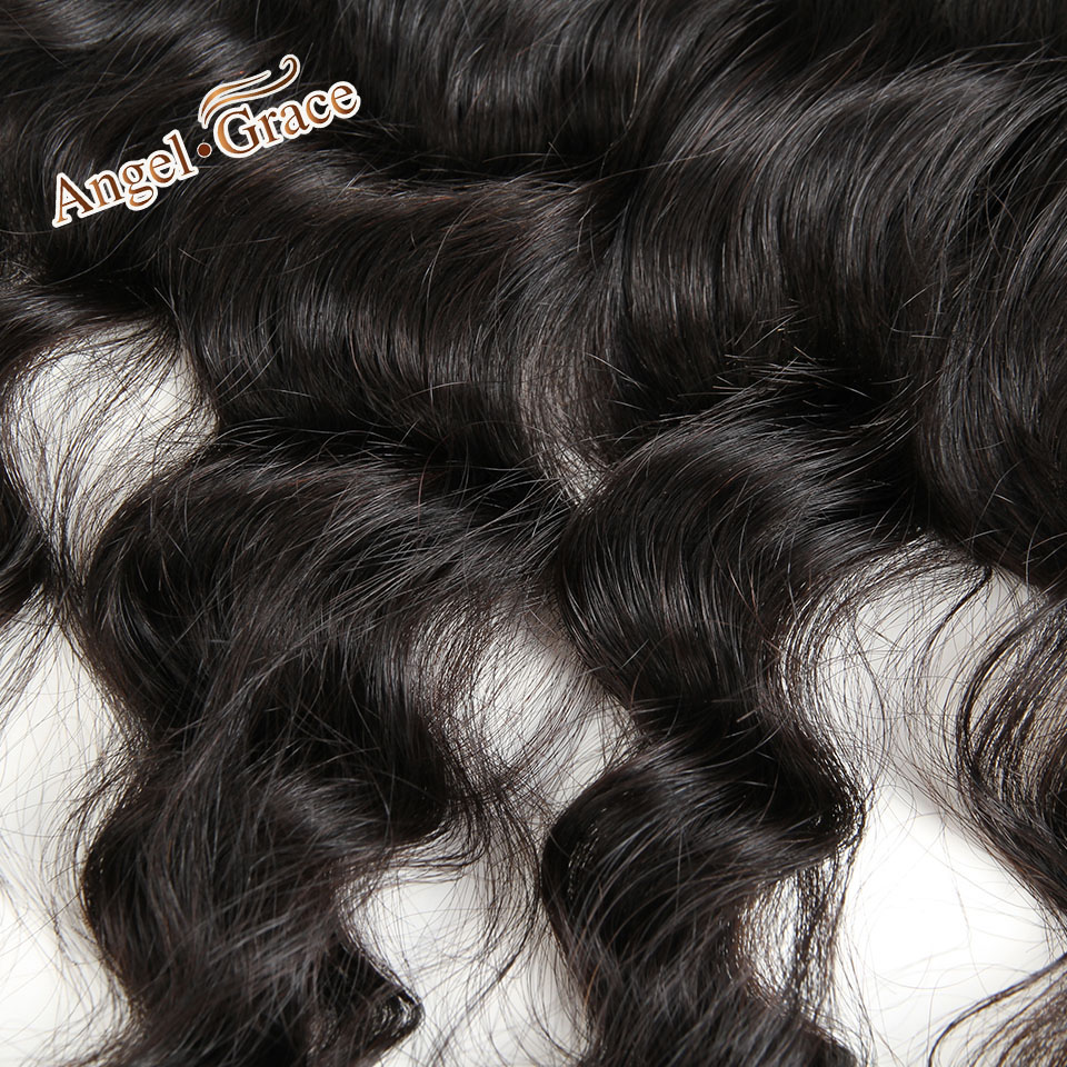 ANGEL GRACE HAIR Loose Wave 13x4 Lace Frontal Free Part Brazilian Remy Hair 100% Human Hair Natural Color Free Shipping