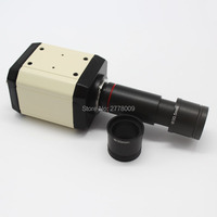 2.0MP HD Microscope Camera VGA CVBS USB AV TV Outputs with C Mount 0.5X Eyepiece Adapter 23.2mm 30mm 30.5mm Relay Lens