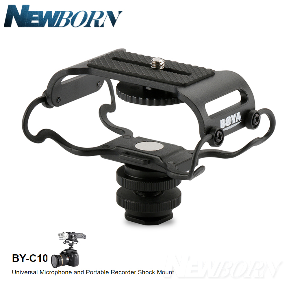 BOYA BY-C10 Microphone Shock mount Digital Recorder Microfone Shockmount for Zoom H1/H4n/H5/H6 Sony PCM-M10 Tascam DR-40 DR-05
