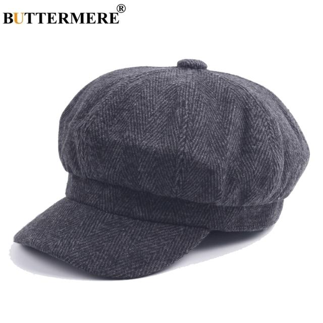 BUTTERMERE Wool Tweed Cap Newsboy Women Herringbone Vintage Painter Caps  British Male Duckbill Hat Directors Spring Casual