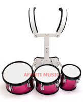 Afanti Music 3 PCS Red Marching Drum MAD 108