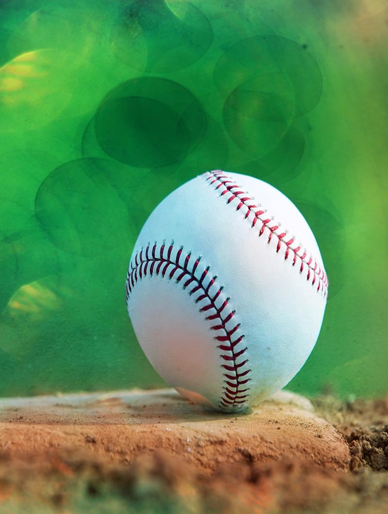 Battaniye Cobertor Sıcaklık Yumuşak Peluş Beyzbol Yere Yeşil Arka