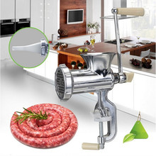 Manual meat grinder machine hand small household enema for stainless steel knife dish stir meat mashed garlic filler sausage