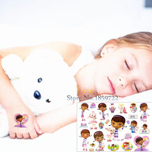 Anime Cute Doc Mcstuffins Giltter Fake Flash Temporary Tattoo Stickers Kids HCG-109 Fake Waterproof Tattoo Paste Cartoon Designs