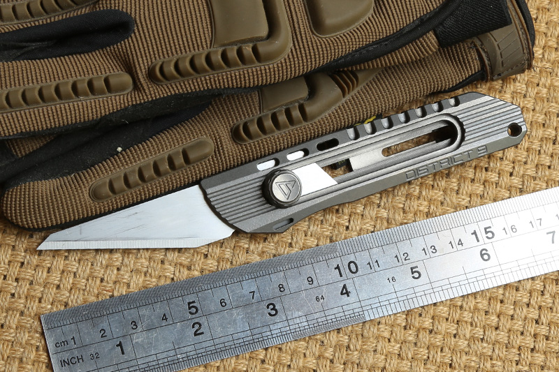 District 9 Original Paper knife Titanium Handle Olfa stainless steel blade Pruning pocket outdoor camping knife knives EDC tools цена
