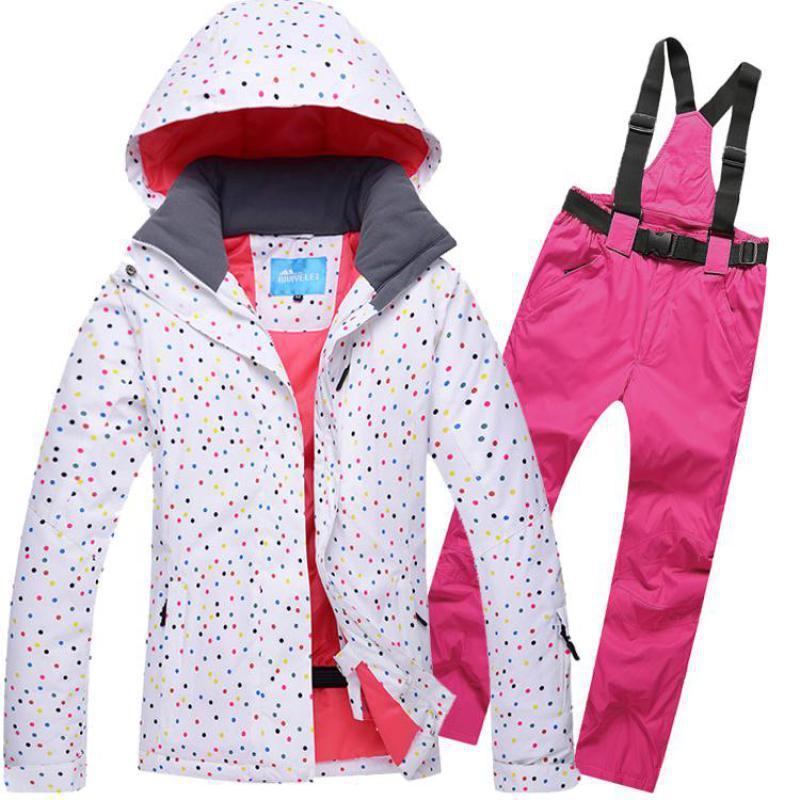 2eb7890c3615 Катание на лыжах сноуборд женщины Лыжная одежда новый бренд толстый ...