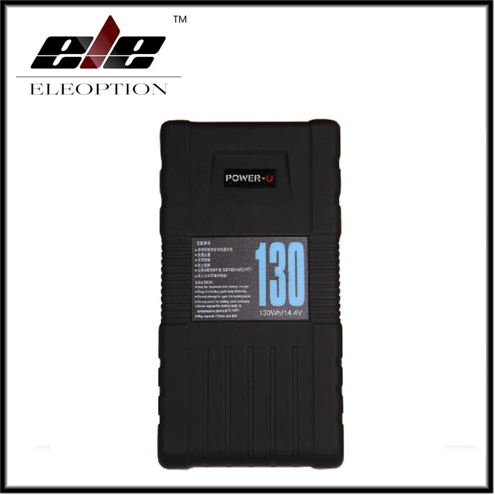 Eleoption BP-130S 130Wh POWER-U 14.4V 130W V-Mount Li-ion Battery For SONY 600p 650P high quality 3pcs bp 130s 130wh power u 14 8v 130w v mount li ion battery for sony 600p 650p