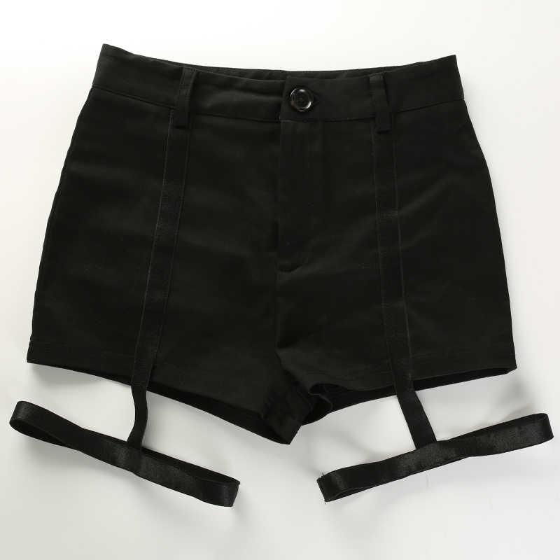 HEYounGIRL bandaż wysokiej talii Sexy szorty czarny Bodycon do tańca Party klub szorty Hip Wrap elastyczny koreański styl seksowne krótkie spodnie