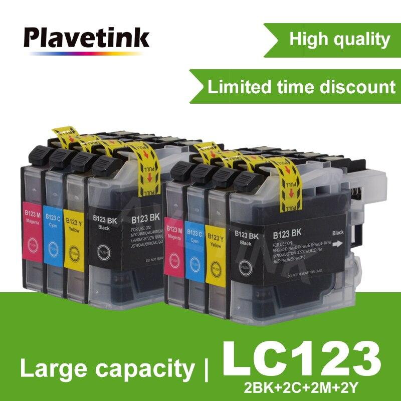 Чернильный картридж Plavetink LC121 LC 123 LC123 совместимый для принтера Brother DCP-J552DW DCP-J752DW MFC-J470DW MFC-J650DW