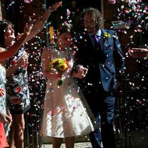 """Image 5 - Heißer Verkauf 380pcs Tabelle Party Scatter Konfetti Gold Silber """"Nur Verheiratet"""" Design Für DIY Party & Hochzeit dekoration Liefert"""