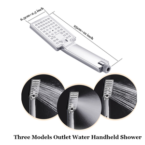 Image 4 - Senlesen Shower Panel Waterfall & Rainfall Shower Head Steel Triple Handles Hot and Cold Water Mixer Taps Para Bathroom Douche