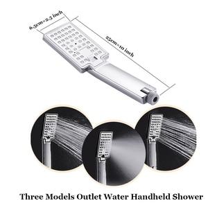 Image 4 - Senlesen מקלחת פנל מפל הגשמים ראש פלדה לשלושה ידיות חמה וקר מיקסר מים ברזי Para אמבטיה מקלחת