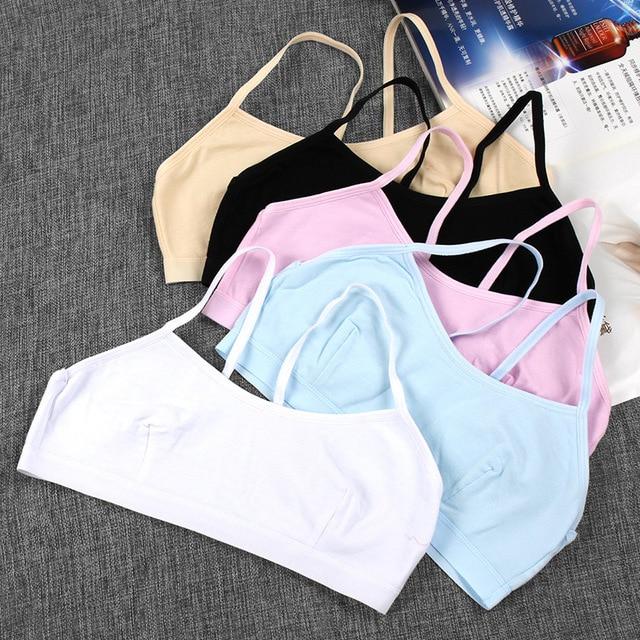 0e821bc91b6f3 100% cotton young girls training bra 10-14 years old children bras Condole  belt