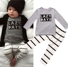 Newborn Baby Boys Clothes Tops T-shirt+Pants Leggings 2pcs Outfits Set 0-24M