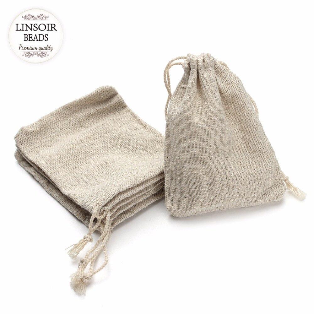 10Pcs 10*14cm Jute Sacks Drawstring Packaging Bags Jewelry Candy ...