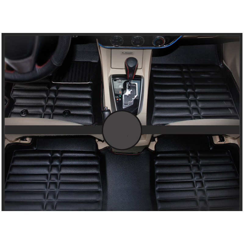 car styling fiber leather car internal floor mat rug for toyota corolla 2013 2014 2015 2016 2017 2018 E170 free shipping leather car floor mat carpet rug for hyundai elantra avante i35 fifth generation 2011 2015