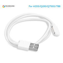 4Pin Pogo Magnet Cable for Kids Smart Watch Charging USB 2.0 Charge Q750S T88 A20 A20S TD05 V6G Magnetic Charger