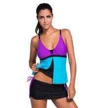 Tankini Swimsuit with Skort Bottom