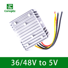 Voltage Reducer Converter DC/DC 36V 48V to 5V 10A15A20A Waterproof Power Supply for Car Module LED Strip Light