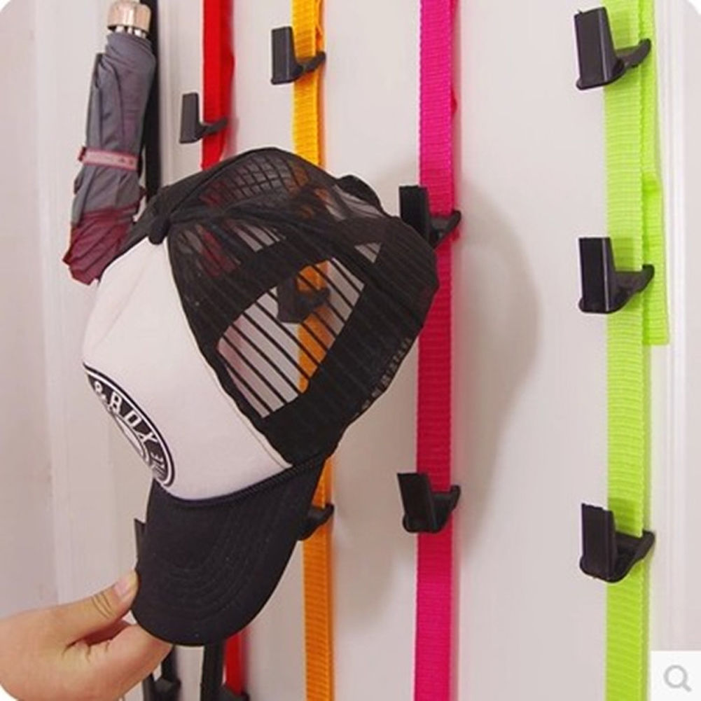 Hot Sale Multifunctional Design Baseball Cap Rack Hat Holder Rack Organizer Storage Door Closet Hanger One Piece